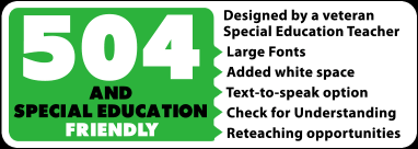 XLR8 Driving School - 504 and special education friendly badge